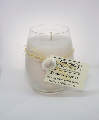 Wine Glass Candle