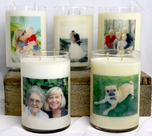Custom Photo Candles