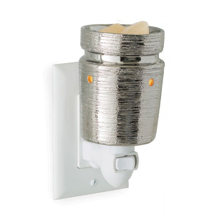 Brushed Chrome Pluggable Fragrance Warmer