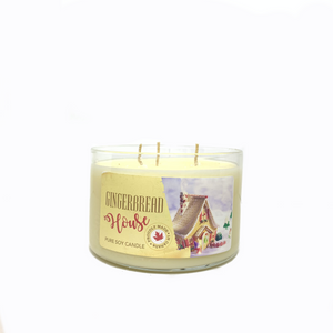 Gingerbread House - 3 wick