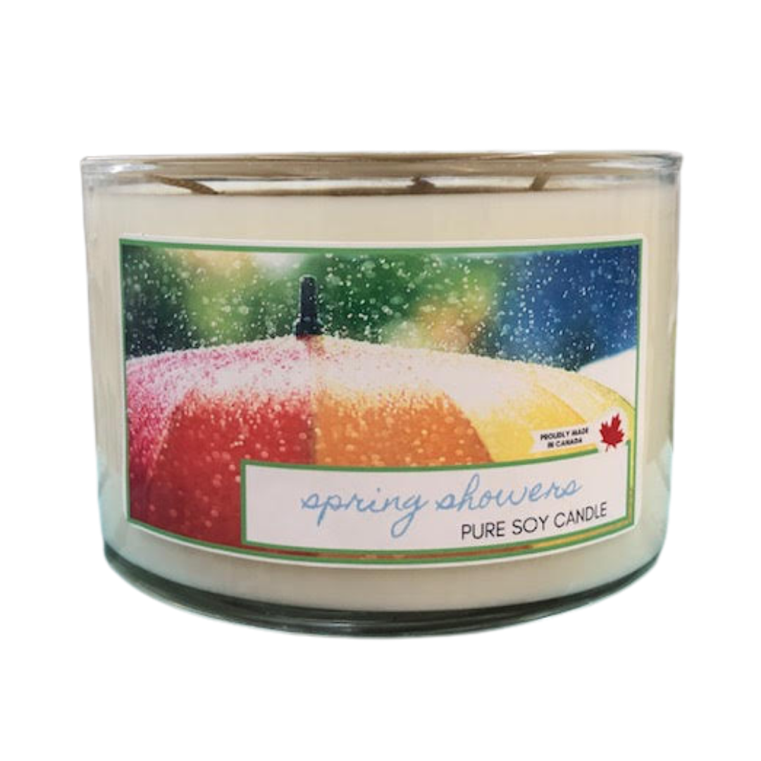 Spring Showers- 3 wick