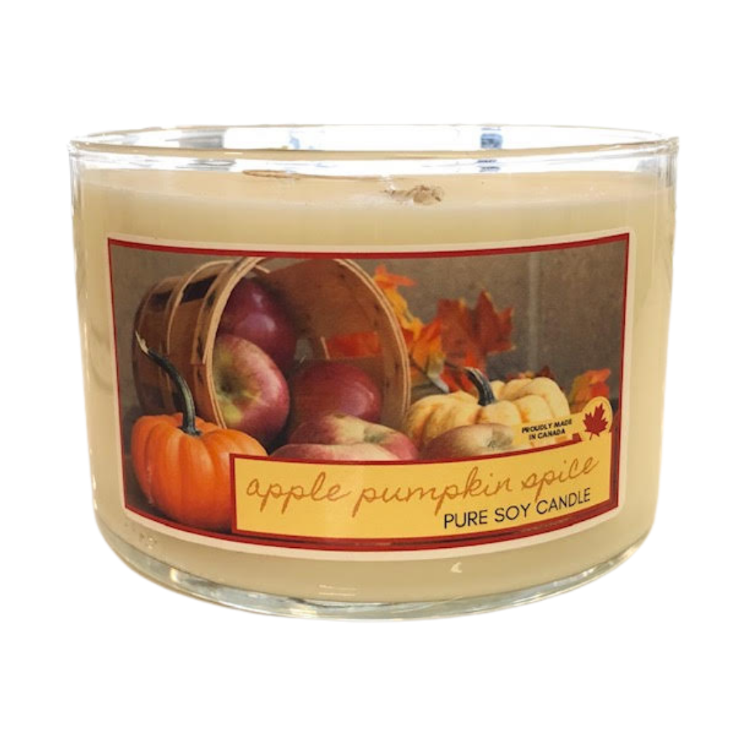 Apple Pumpkin Spice - 3 wick