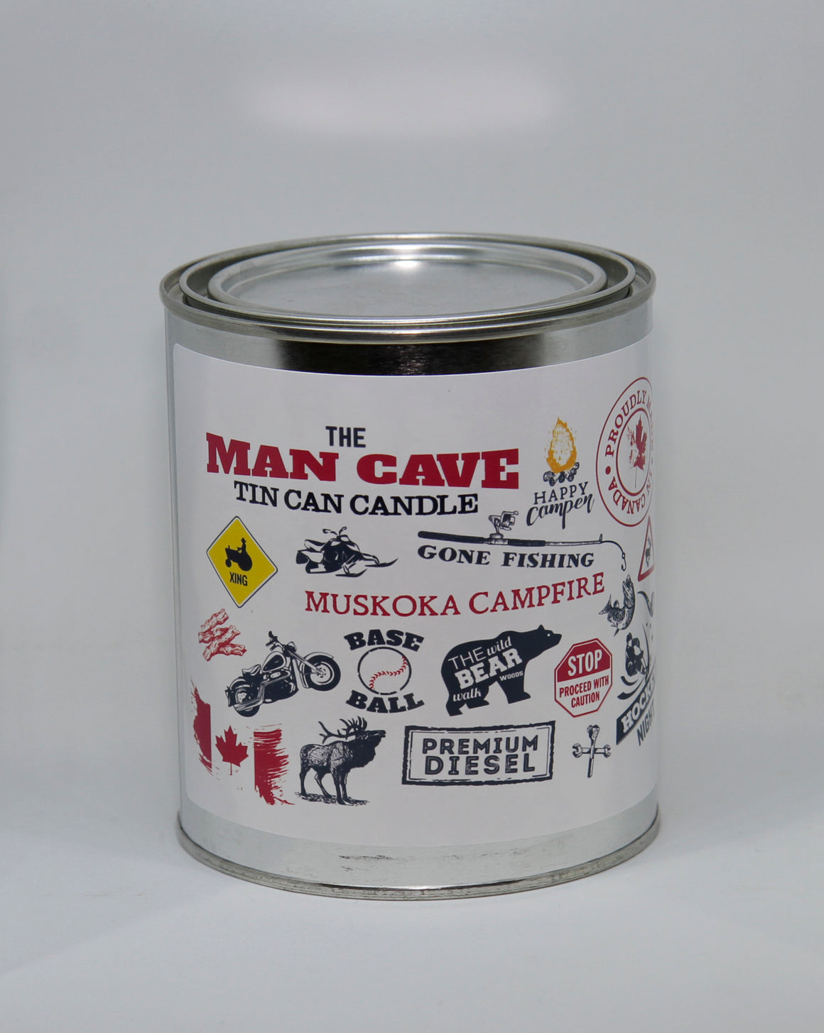 Man Cave Tin Can Candle
