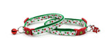 Christmas Dots Cat Collar