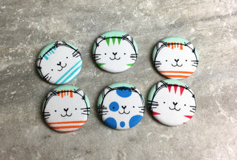Colorful Tabby Cats Magnets