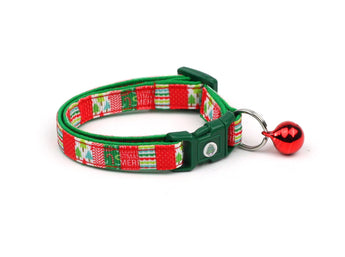 Festive Patchwork Cat Collar