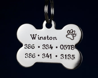"1.5"" Stainless Steel Bone Shaped Pet ID Tag"