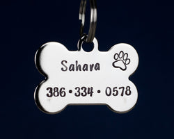 "1.25"" Stainless Steel Bone Shaped Pet ID Tag"