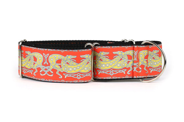 Celtic Knot in Orange and Yellow Greyhound Collar