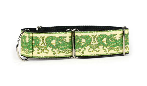 Celtic Knot in Yellow and Green Greyhound Collar