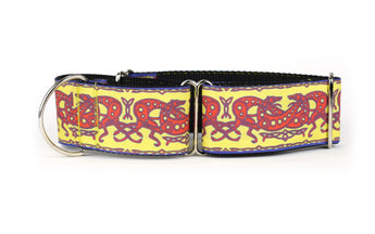Celtic Knot in Yellow and Red Greyhound Collar