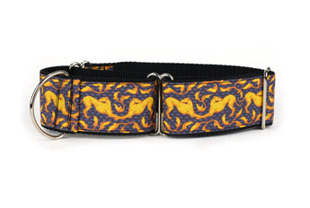 Slate and Gold Art Nouveau Greyhound Collar