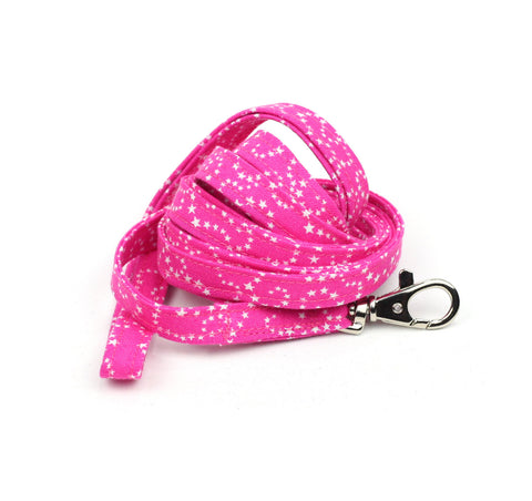 White Stars on Pink Leash