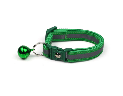 Forest Green with Refective Strap Cat Collar