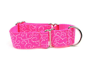 White Stars on Pink Whippet Collar
