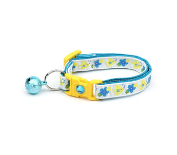 Tropical Flowers and Fish Cat Collar