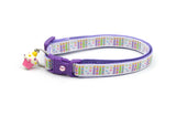 Birthday Cake Candles Cat Collar