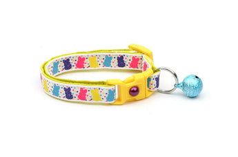 Bright Easter Bunny Balloons Cat Collar
