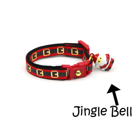 Here Comes Santa Claus Cat Collar