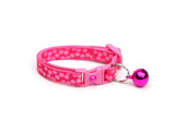 Pink Dots on Bright Pink Cat Collar