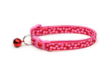 Pink Dots on Red Cat Collar