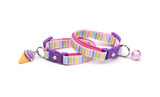 Pastel Rainbow Chevron Cat Collar