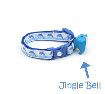 Jumping Dolphins Cat Collar