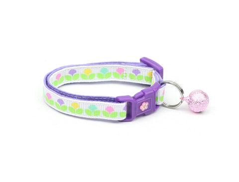 Pastel Spring Blossoms Cat Collar