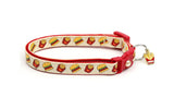 Cheeseburgers and Fries on Cream Cat Collar