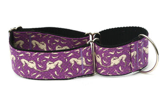 Purple and Cream Art Nouveau Greyhound Collar