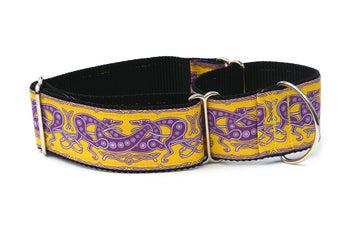 Celtic Knot in Yellow and Purple Greyhound Collar