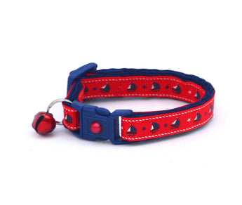 Sail Boats on Red Cat Collar