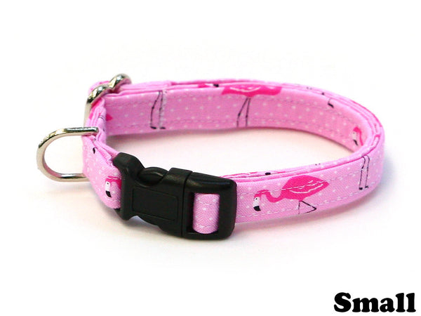 Fancy Pink Flamingo Dog Collar