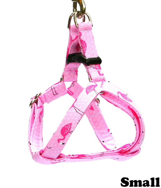 Tropical Fancy Pink Flamingos Dog Harness