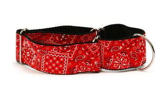 Red Bandana Paisley Greyhound Collar