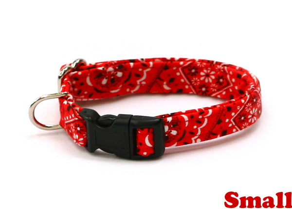 Red Bandana Paisley Dog Collar