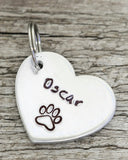 "7/8"" Aluminum Heart Shaped Tag"