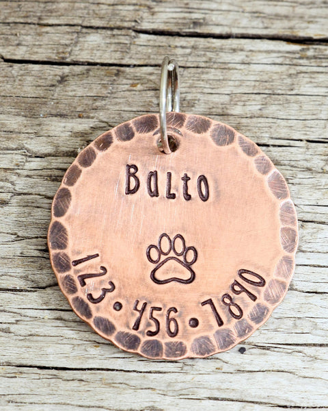 "1"" Round Copper Custom Pet ID Tag"