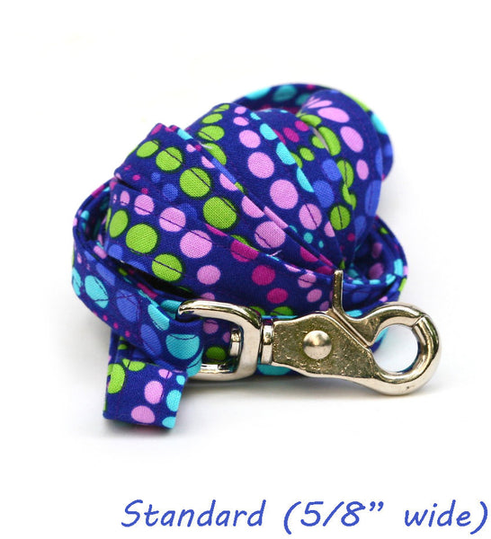 Grape Soda Polka Dots Leash