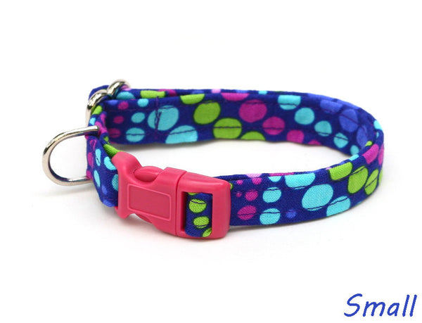 Grape Soda Polka Dots Dog Collar