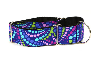 Grape Soda Polka Dots Greyhound Collar