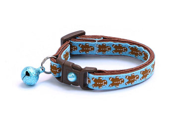 Gingerbread Cookies on Blue Cat Collar