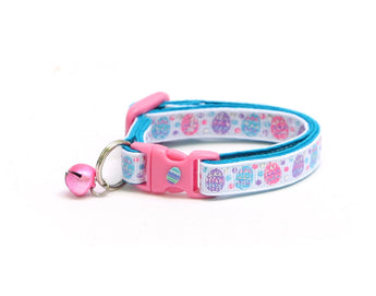 Blue, Pink, and Purple Easter Eggs Cat Collar