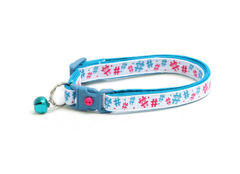 Social Media Cat Hashtag Cat Collar