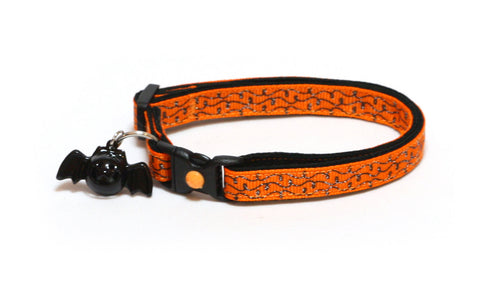 Orange and Black Doodle Swirls Cat Collar