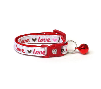 Love is the Word Cat Collar