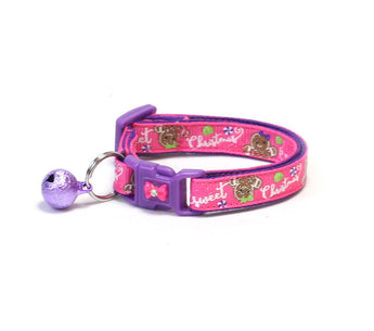 Sweet Christmas on Pink Cat Collar
