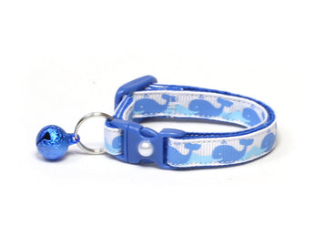 Happy Blue Whales Cat Collar