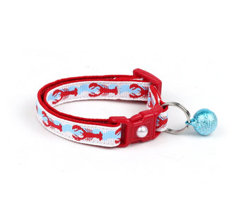 Bright Red Lobsters Cat Collar