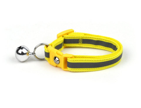 Safety Yellow with Refective Strap Cat Collar